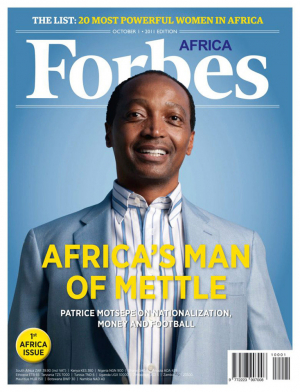Billionaire Patrice Motsepe, Forbes Africa launch issue cover, 2011